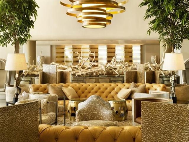 gama de dorados en interiores