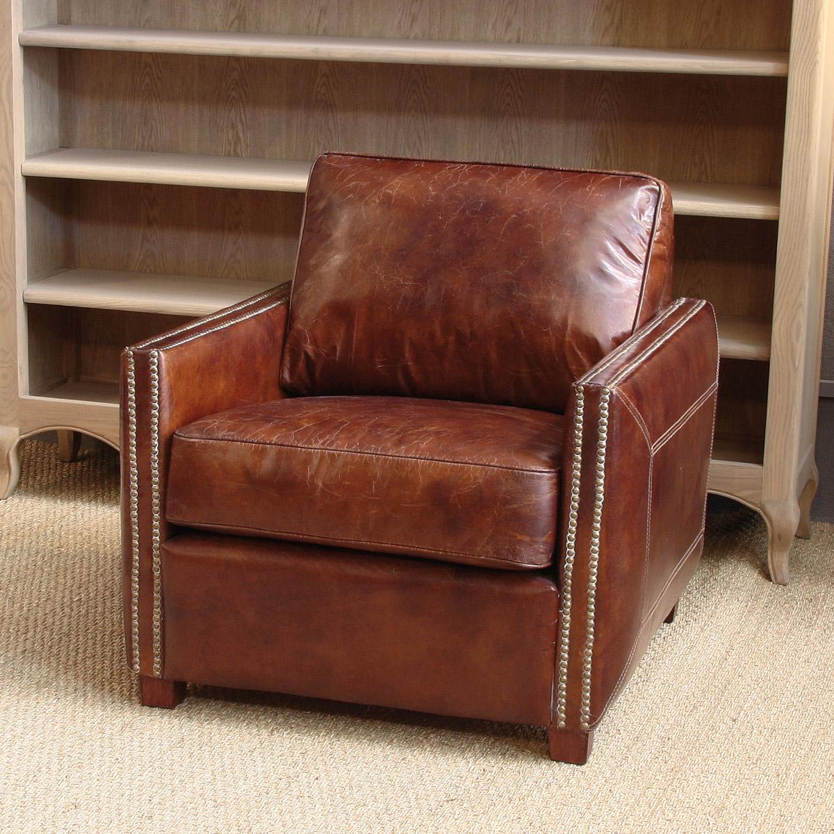 Butaca de piel envejecida - Mejores sofas de piel ...