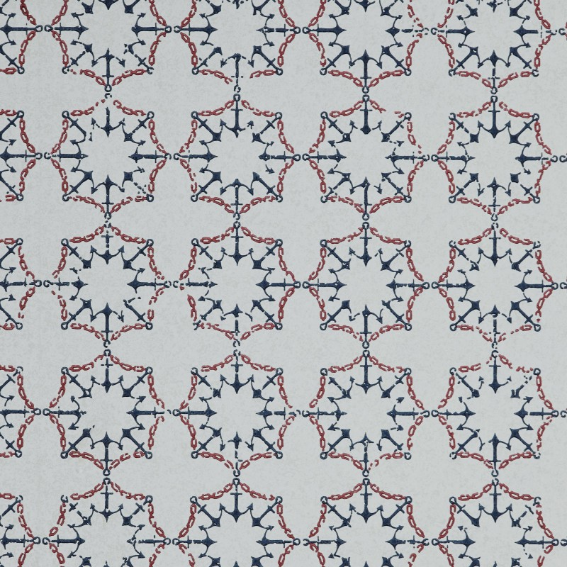 ANCHOR TILE RED WHITE  BLUE BG1000101