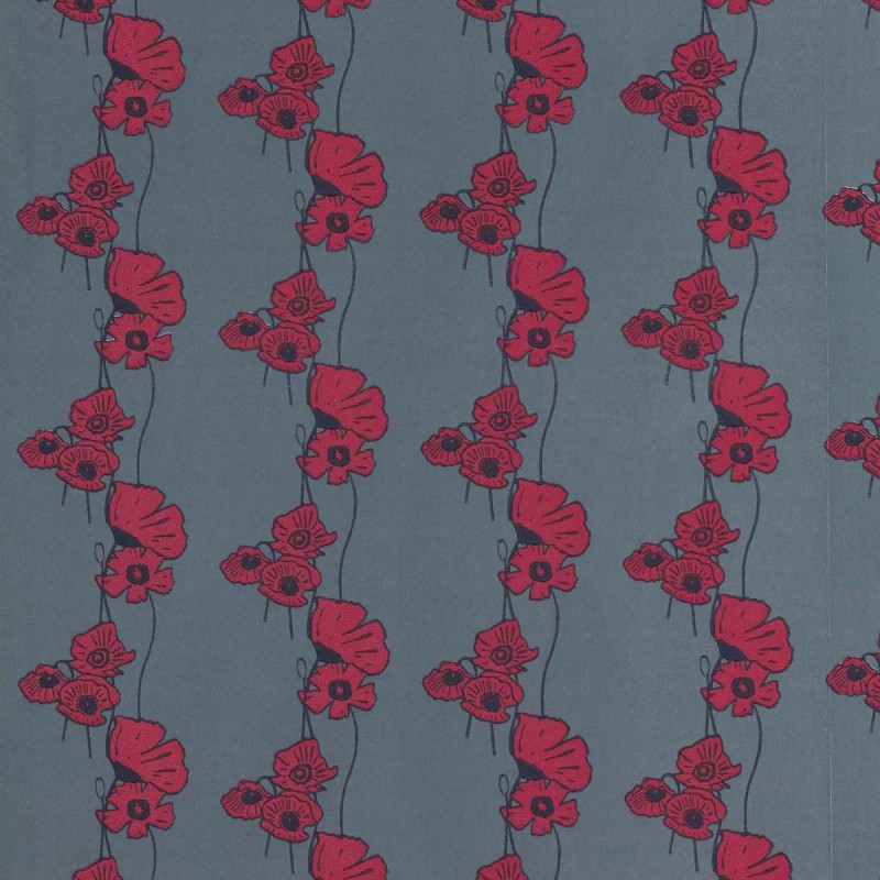POPPY FIELDS RED ON GUNMETAL BG1500202