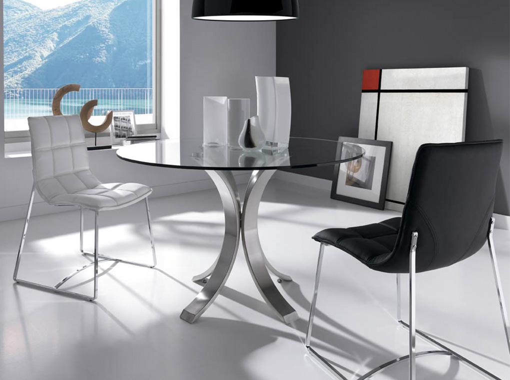 Mesa de comedor redonda moderna beeth for Mesas redondas modernas comedor