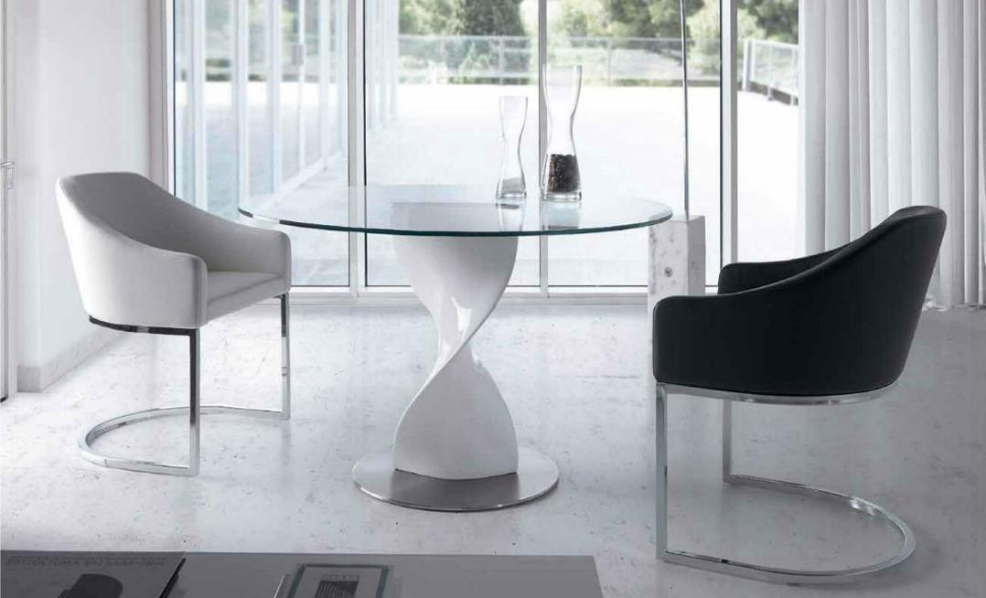 Mesa de comedor redonda moderna katerin - Mesas redondas modernas ...