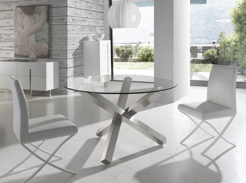 Mesa de comedor redonda moderna jethson for Mesa cuadrada moderna