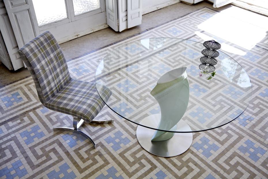 Mesa de comedor redonda moderna Katerin -