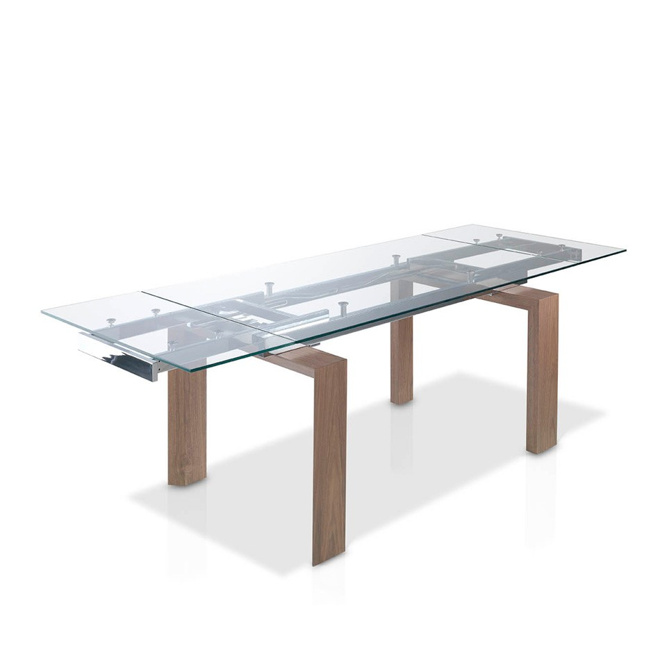 Mesa de comedor rectangular moderna calafat for Mesa de comedor de vidrio rectangular