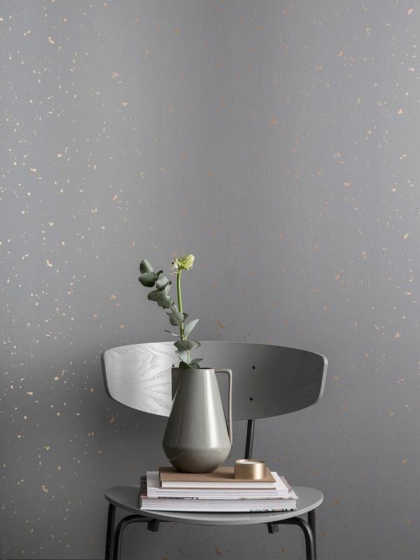Ferm Living Papel Pintado Confetti Wallpaper Grey