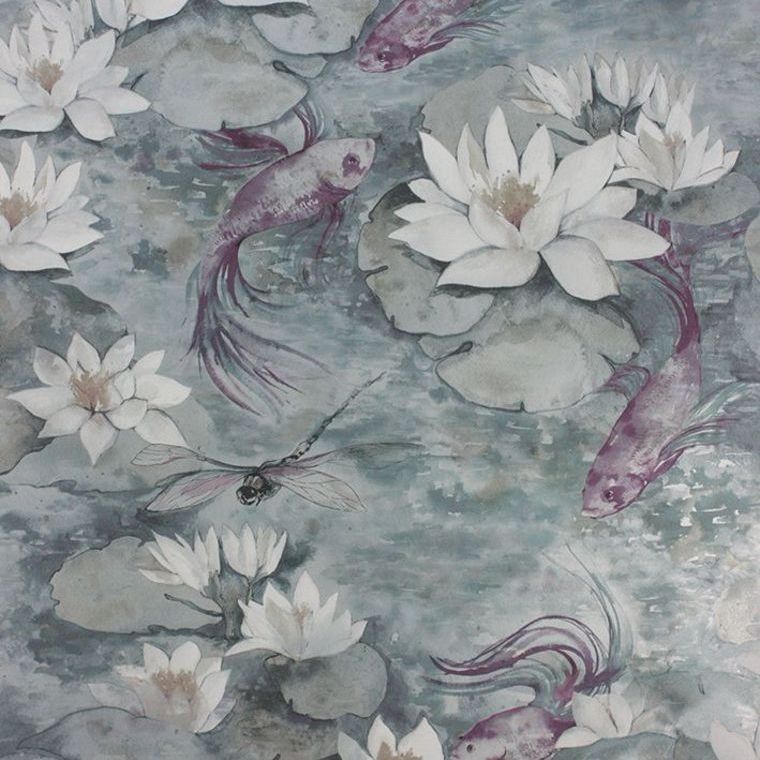Water Lily Dove Grey W7148-04