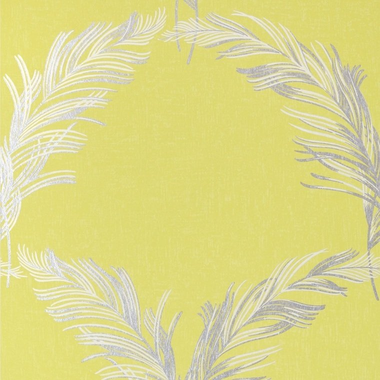 Plumes Metallic Silver-Citron AT7925